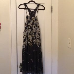 Anthropologie Boho floral maxi dress, brand new